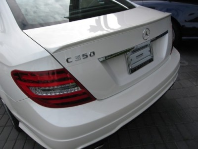 2012 mercedes c class coupe w204 c63 amg style rear trunk. Black Bedroom Furniture Sets. Home Design Ideas
