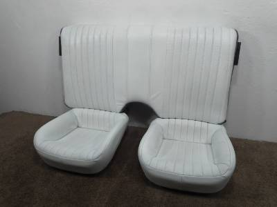 Replacement Camaro Firebird Trans Am White Leather Rear
