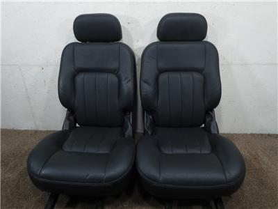 replacement ford f150 black leather rear bucket seats 1997. Black Bedroom Furniture Sets. Home Design Ideas