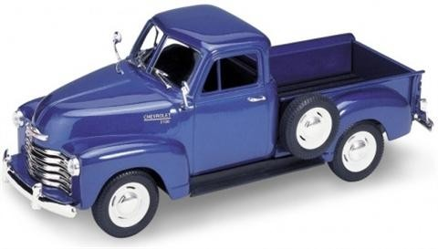 Diecast-model-Car-1-24-1953-Chevrolet-3100-Pick-Up-Blue-22087-Die-Cast-Welly