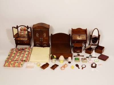 Sylvanian families luxury master bedroom furniture set ebay Master bedroom set sylvanian