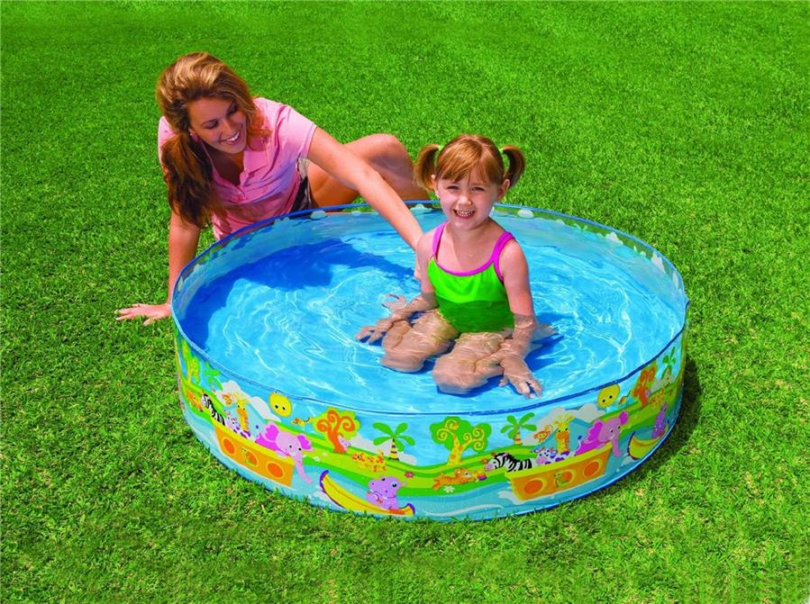 Intex inflatable family outdoor swimming paddling pool for Garden paddling pools