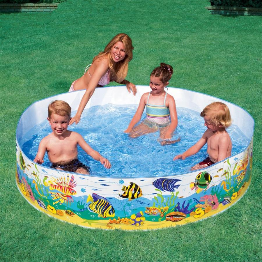 Intex inflatable family outdoor swimming paddling pool for Intex gartenpool