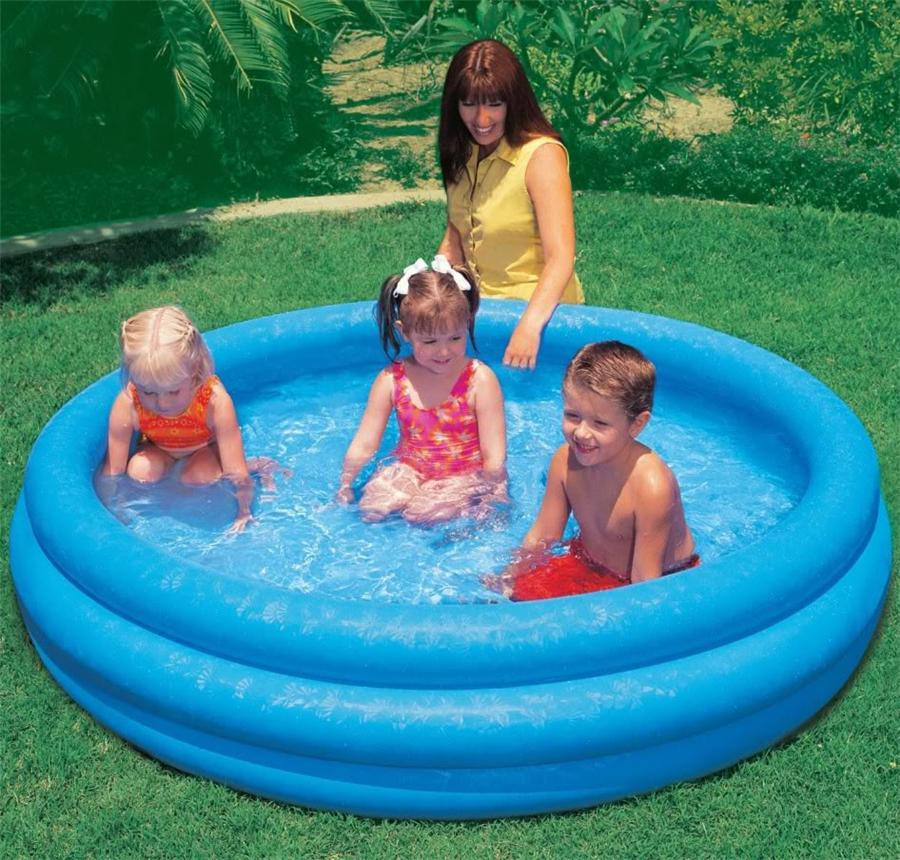 Intex inflatable family outdoor swimming paddling pool for Small paddling pool