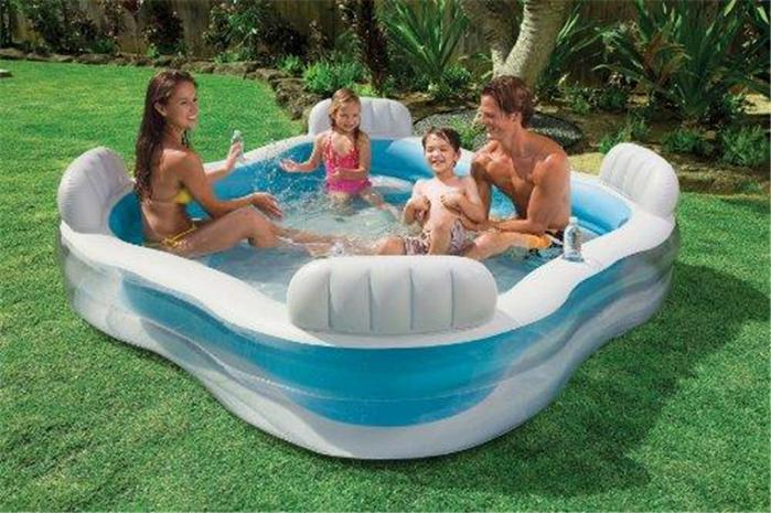 intex familie kinder schwimmbecken aufblasbar schwimmen paddeln garten pool ebay. Black Bedroom Furniture Sets. Home Design Ideas