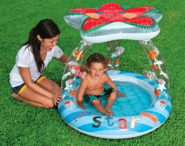 Intex inflatable family outdoor swimming paddling pool for Baby garden pool