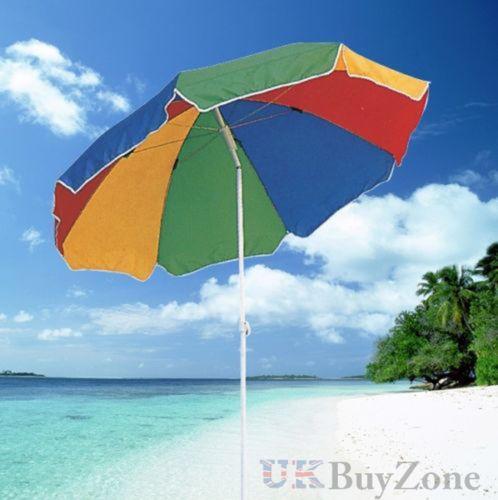 Parasol de plage jardin patio parapluie parasol upf uv for Portent un parasol dans les jardins