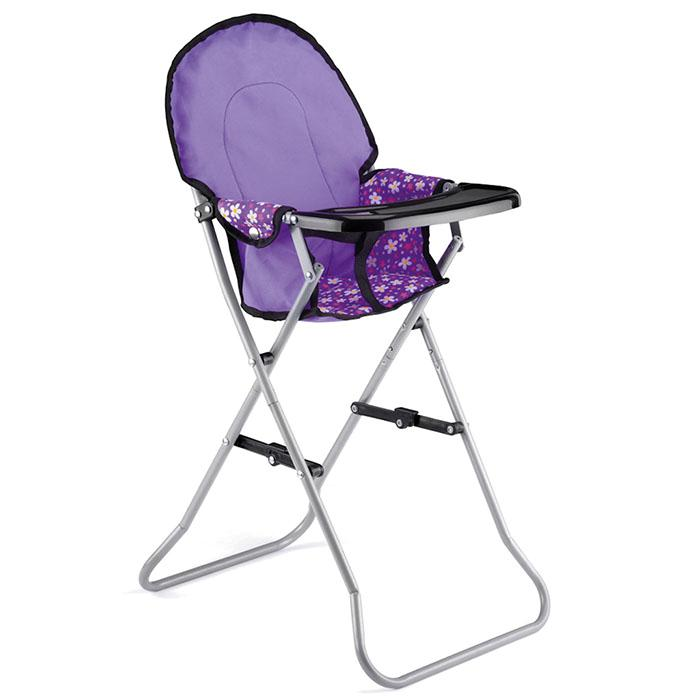 Baby Dolls Set Deluxe Feeding High Chair and Folding Travel Cot Girls Toy