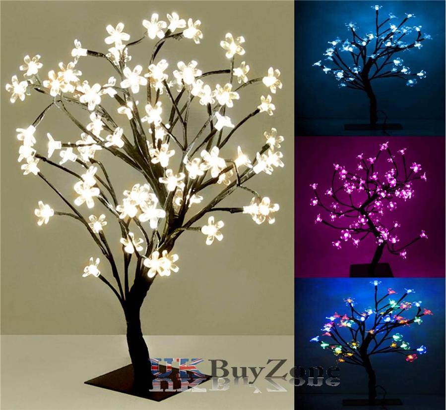 Christmas Xmas LED Lights Pre Lit Cherry Blossom Bonsai Tree Indoor Outdoor