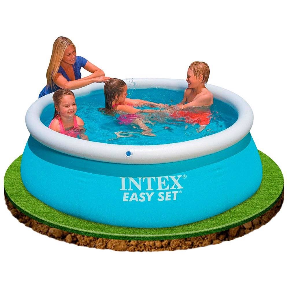 intex easy set inflatable swimming paddling pool 6 8 10 ft pool cover pump ebay. Black Bedroom Furniture Sets. Home Design Ideas