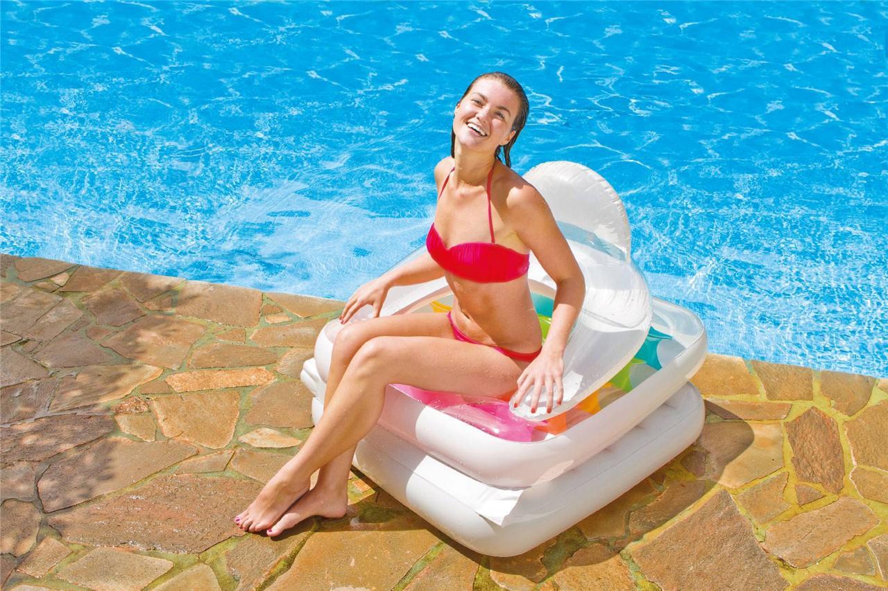 Inflatable Pocket Fashion Designer Lounger Lilo Float Tube Rings Recliner Chiar : eBay