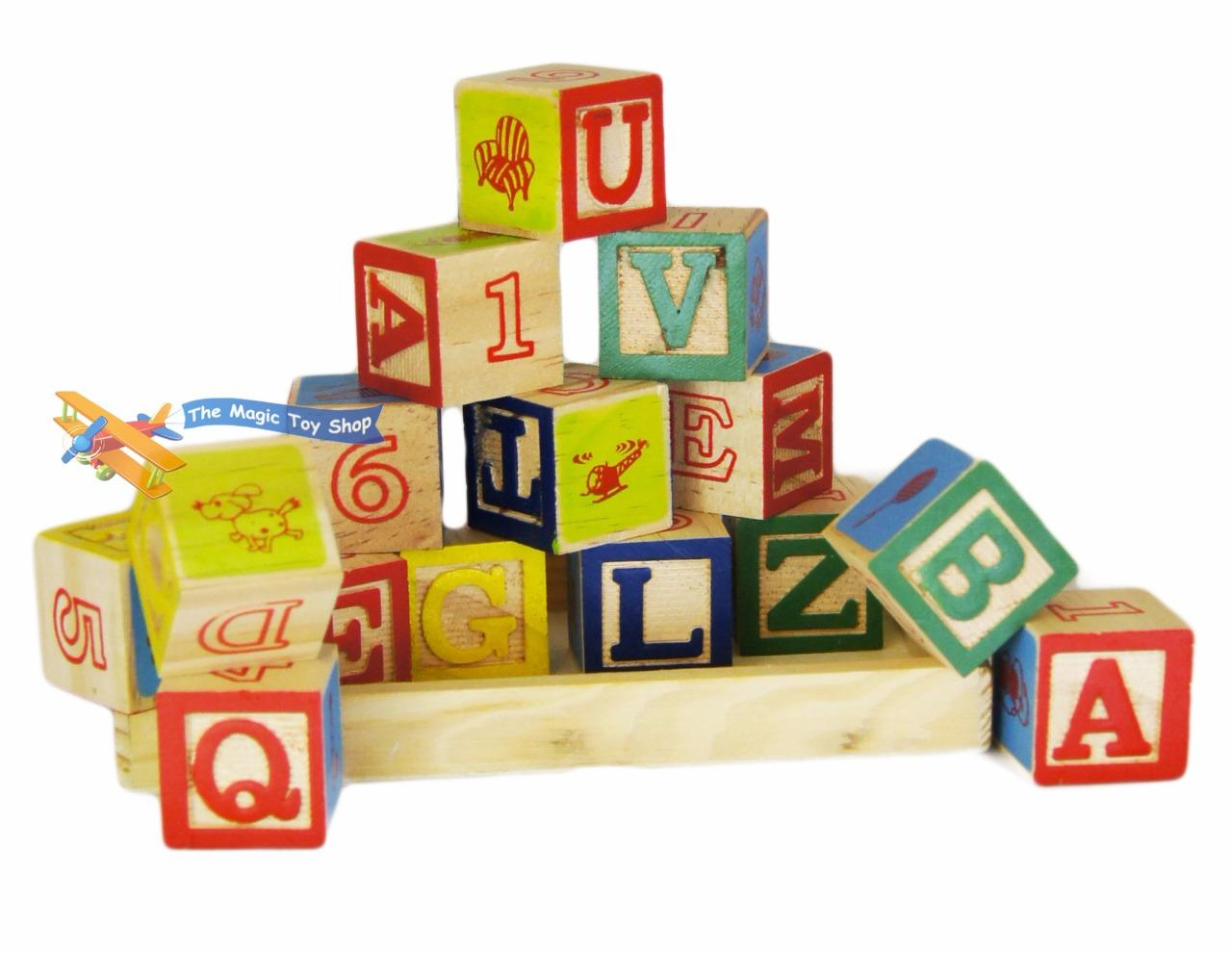 wooden alphabet letters numbers building blocks cubes. Black Bedroom Furniture Sets. Home Design Ideas