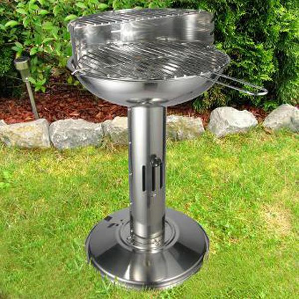 Pedestal Charcoal Grills : Pedestal stainless steel barbecue bbq charcoal grill