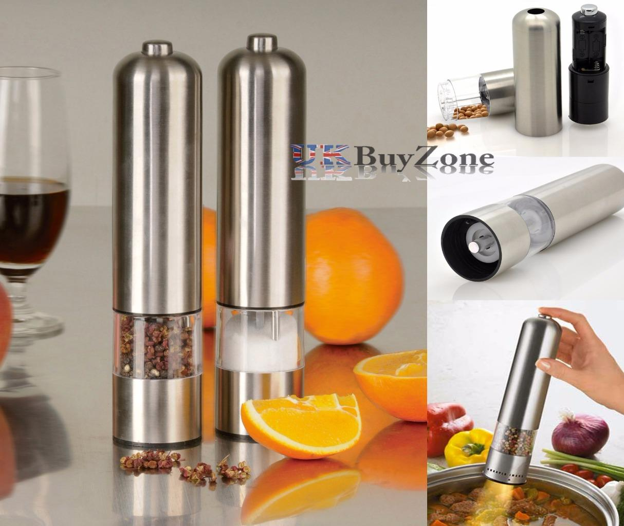 Electric Salt Pepper Mill Grinder With Light 28 Images Itouchless Automatic Electric Salt