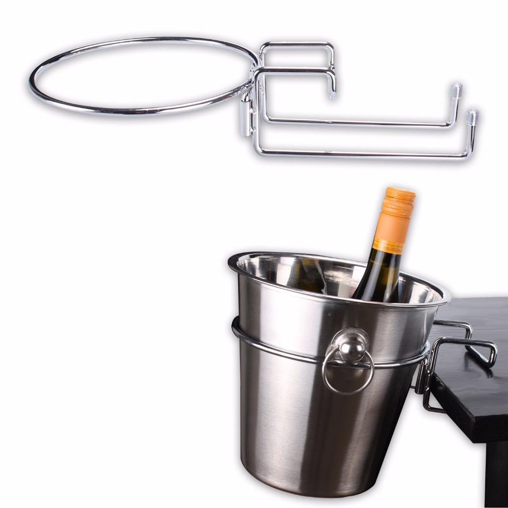 Ice Bucket Table Chrome Plated Table Desk Side Champagne Wine Ice Bucket Holder