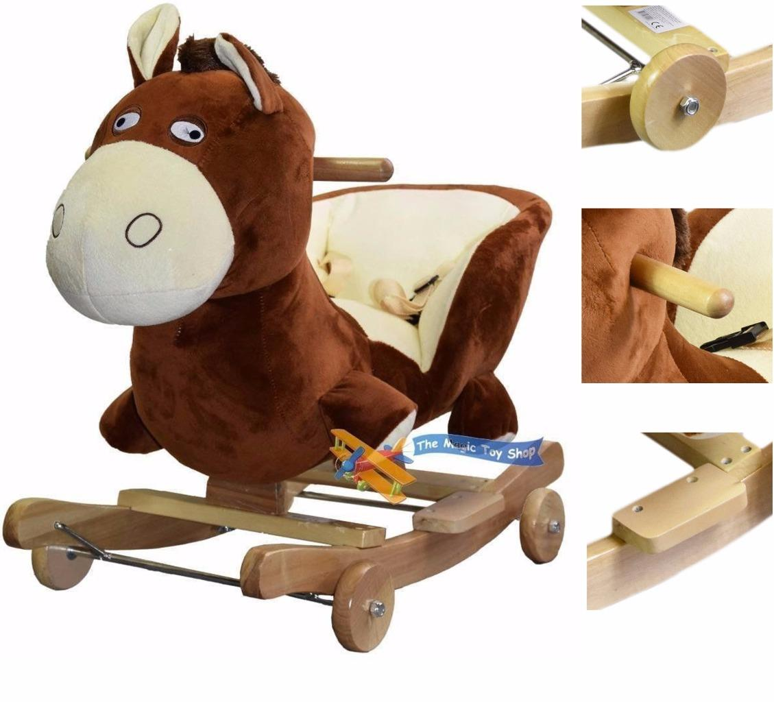 2 In 1 Baby Musical Rocking Animal Horse Ride On Rocker