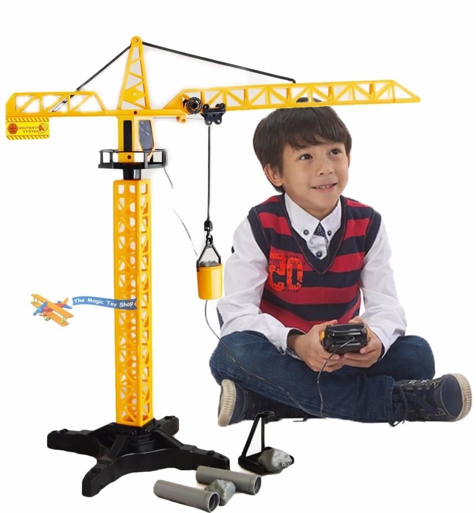 Construction Site Toys For Boys : Kids boys radio remote controlled rc tower crane