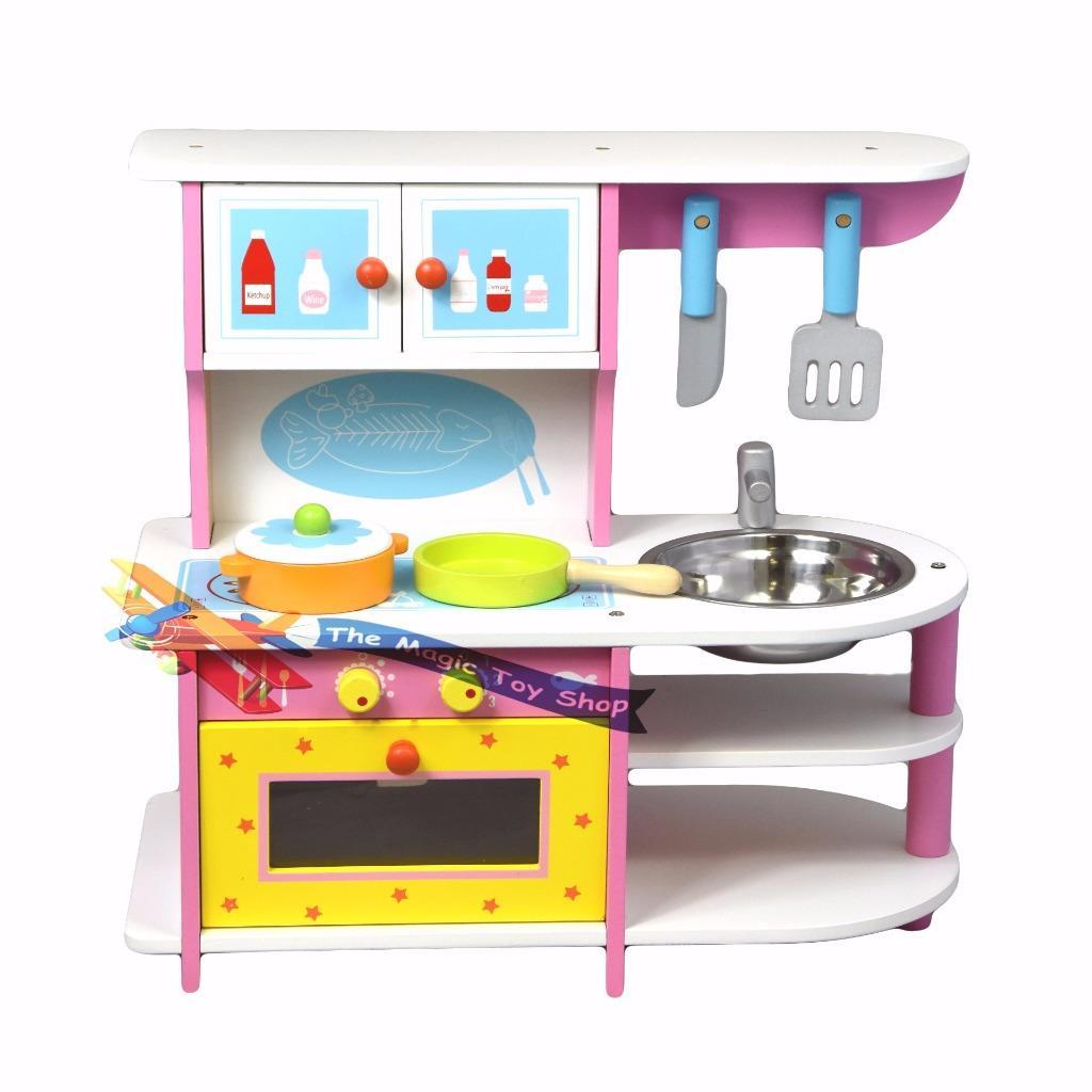 Oven Kitchen Set: Kids Childs Wooden Kitchen Play Set Pretend Play Oven Sink