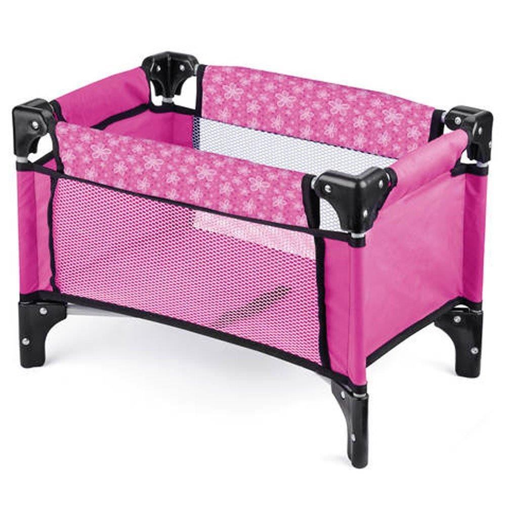 Baby Dolls Deluxe Folding Travel Carry Cot Bed Crib With Storage Bag Girls Toy Ebay