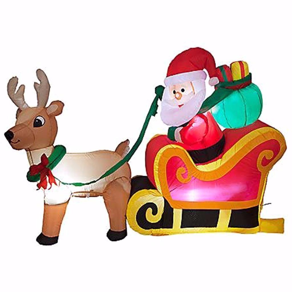 #B5162A Grand Gonflable Bonhomme De Neige Père Noël Extérieur  6896 deco de noel exterieur gonflable 1024x1024 px @ aertt.com