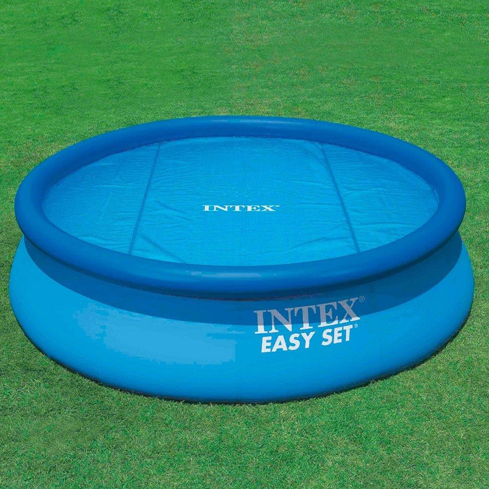 intex solar pool cover for 12 ft frame or easy set pools ebay. Black Bedroom Furniture Sets. Home Design Ideas