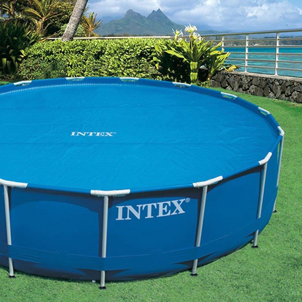 Intex Solar Pool Cover For 12 Ft Frame Or Easy Set Pools Ebay