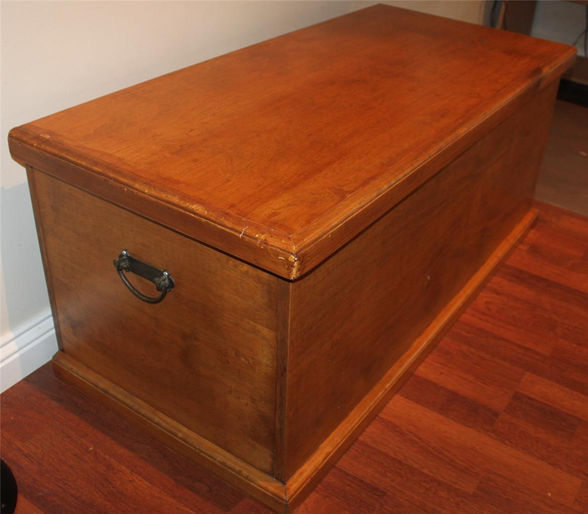 Lge Wooden Rustic Box Storage Chest Toy Box Coffee Table Decor Piece Must See Ebay