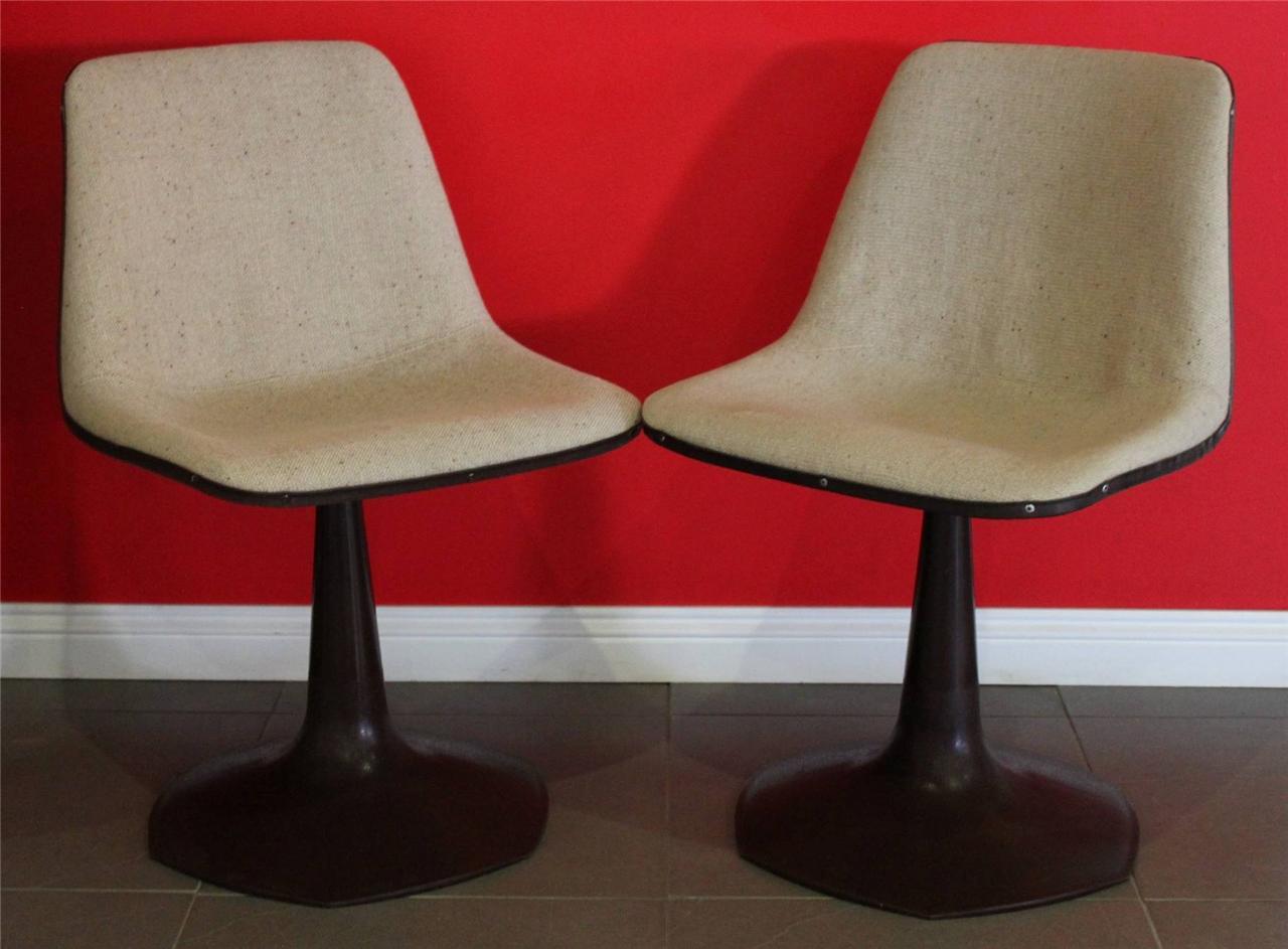 Pair-Retro-Vintage-SEBEL-Decor-Swivel-Chair-Eames-Era