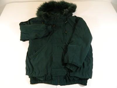 Womens Real FOX FUR Trim Green IZZI OUTERWEAR Jacket Coat Size Small Nice | eBay
