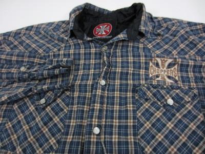 JAMES WEST COAST CHOPPERS Plaid Cotton Pearl Snap Shirt Large L