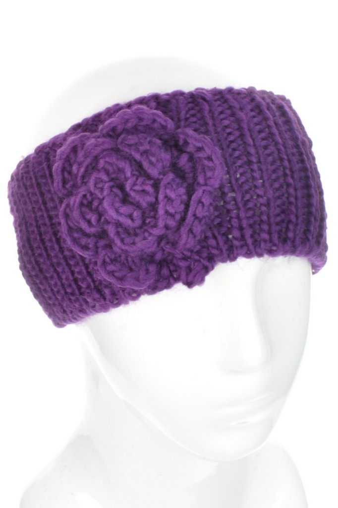 Knitting Patterns For Ear Warmers With Flower : [UK SELLER] Ladies Flower Headband Hairband Ear Warmers ...