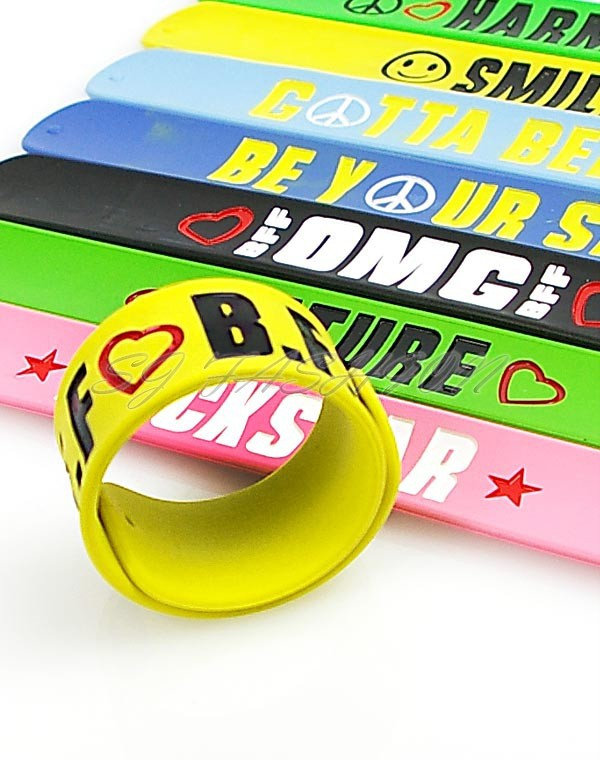 UK-SELLER-Hi-viz-Reflective-Snap-Slap-Bands-6-Colours-to-choose-from-SLAPBANDS