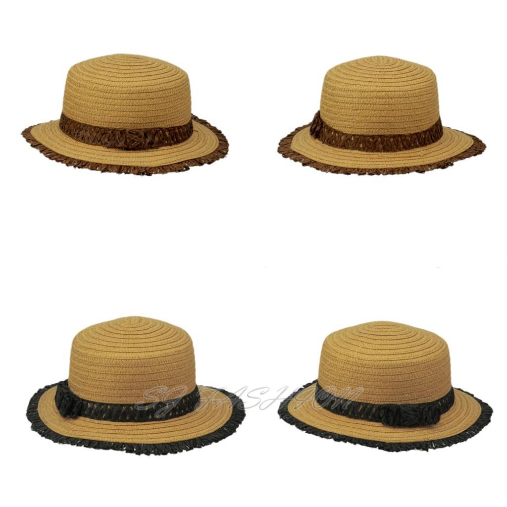 uk seller fashion straw summer sun hat cap