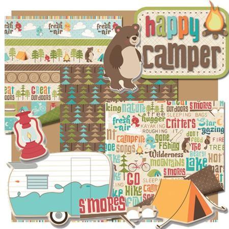1 sheet imaginisce scrapbook camp happy camper papers ebay
