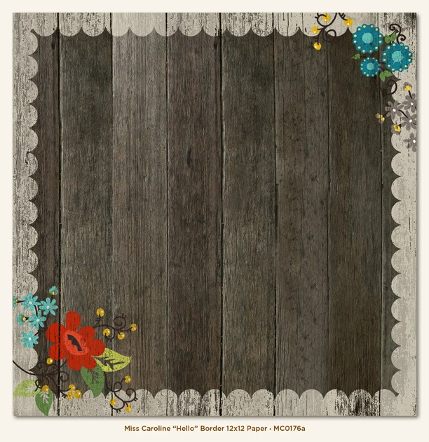 1-12X12-Sheet-MME-My-Minds-Eye-Scrapbook-MISS-CAROLINE-DILLY-DALLY-PAPERS