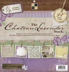 48-sheet-12x12-DCWV-CHATEAU-LAVENDER-STACK-Glitter-Scrapbook-Papers-Pad