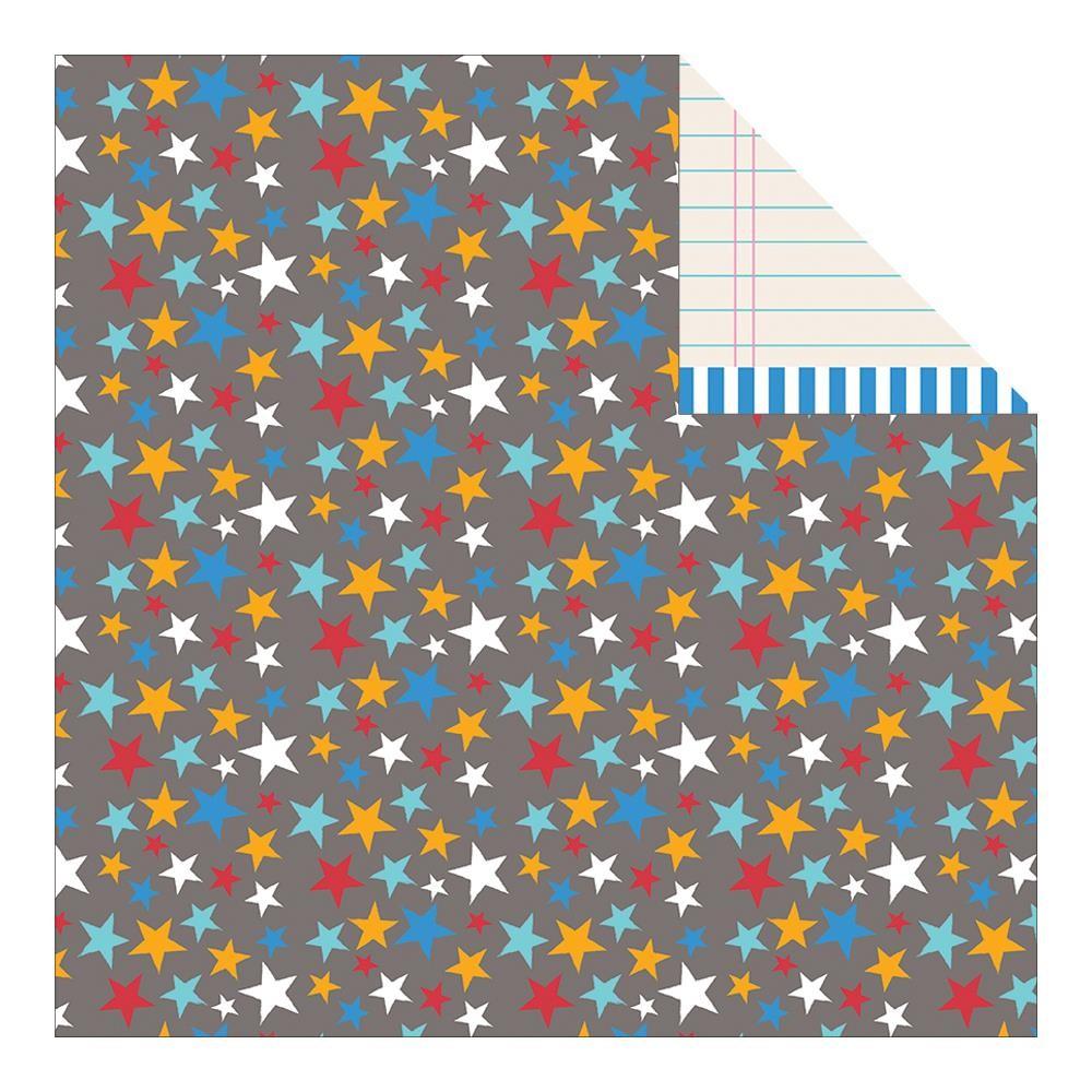 Scrapbook paper cardstock - 2 New 12x12 Pebbles Party Super Hero Scrapbook Paper Cardstock Sheets