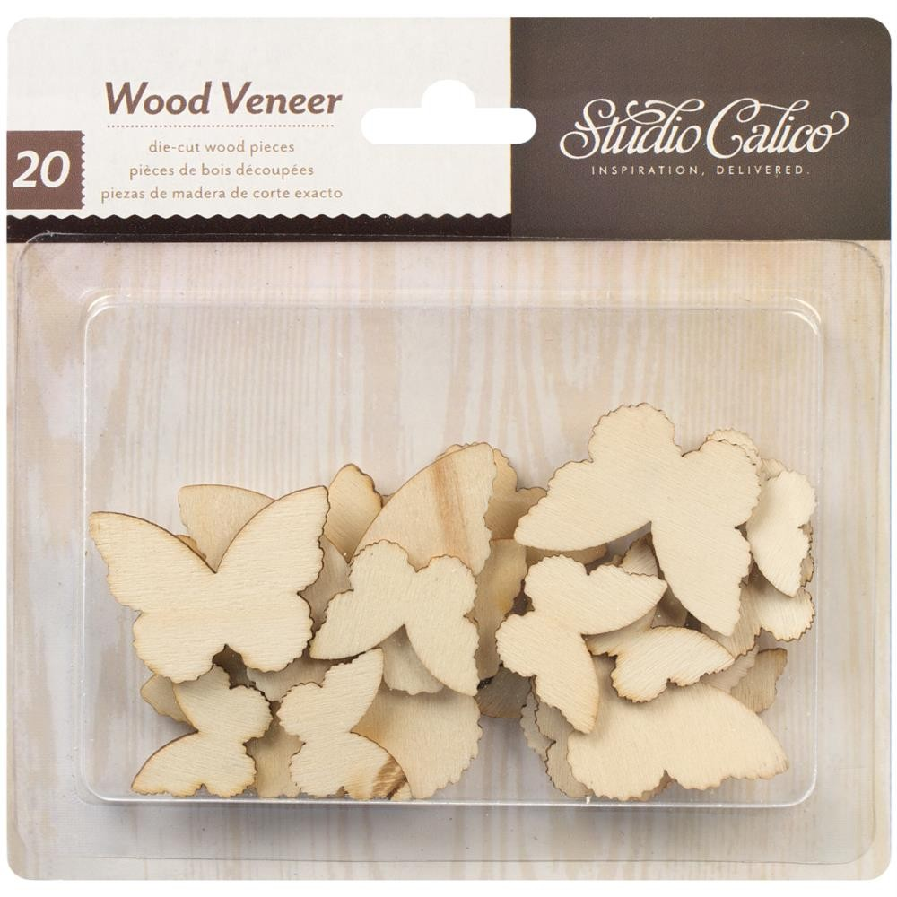 Laser-Cut Wood Veneer Shapes