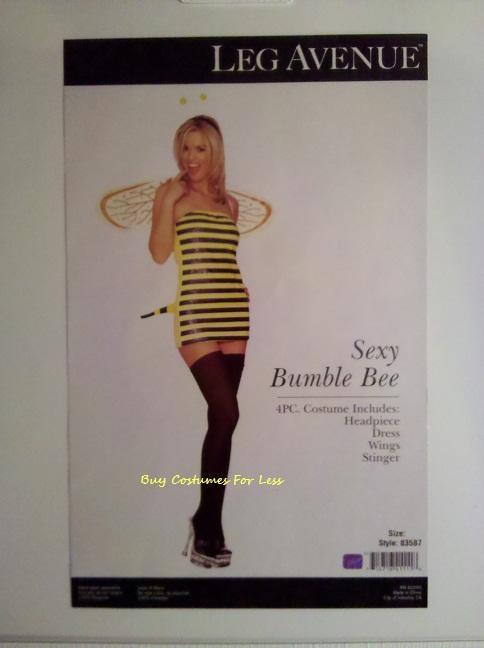 Leg-Avenue-Sexy-Womens-Bumble-Bee-4-Piece-Adult-Halloween-Costume