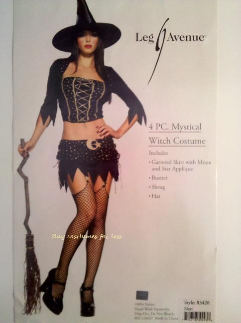 Leg-Avenue-Sexy-Womens-Mystical-Witch-4-PC-Adult-Halloween-Costume