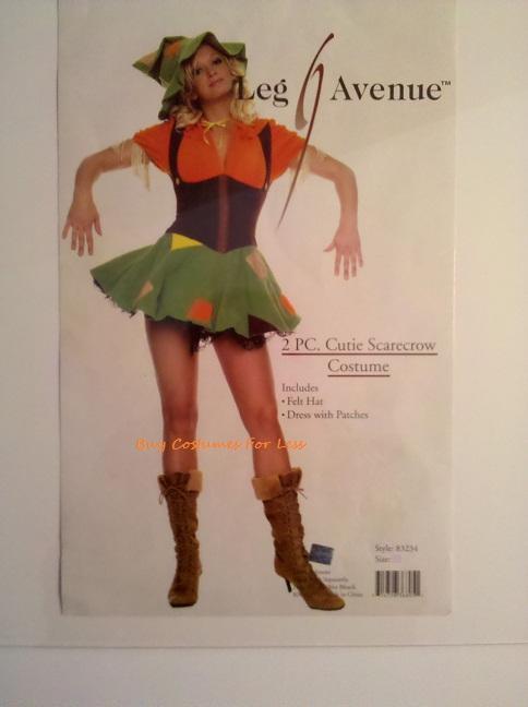 Leg-Avenue-Sexy-Womens-Cutie-Scarecrow-Wizard-of-Oz-2-PC-Adult-Halloween-Costume
