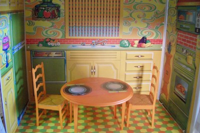 Vintage Style Furniture on Vintage Mattel 1970 Barbie House Retro Mod Style Two Story Furniture