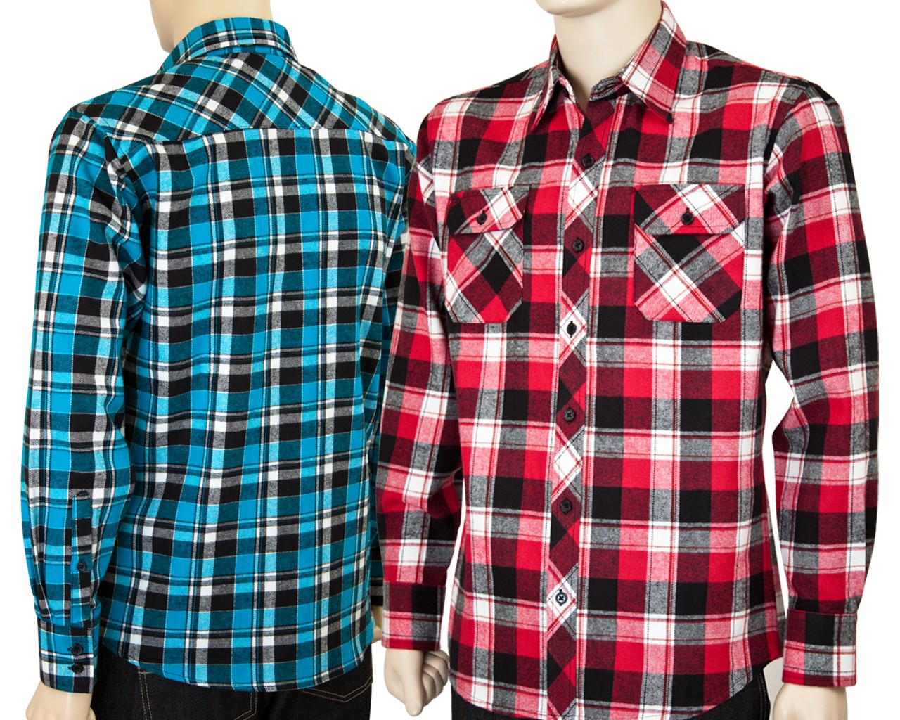 Men 39 s slim fit flannel long sleeve shirts w multi colors for Mens slim fit flannel shirt