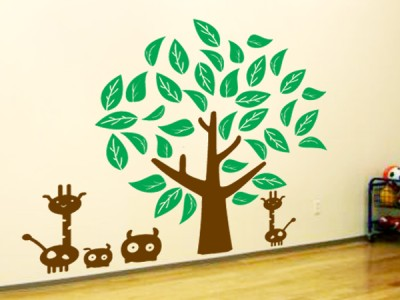 Nursery Baby Kids Room large Tree Removable Vinyl Wall Art Decal Decor