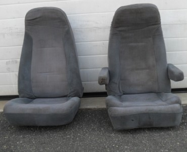 2 used semi truck pair seats cloth air ride bostrom. Black Bedroom Furniture Sets. Home Design Ideas
