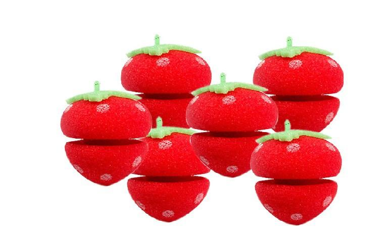 Magic Beauty Super Cute Strawberry Balls Soft Sponge Hair Care Curler Rollers