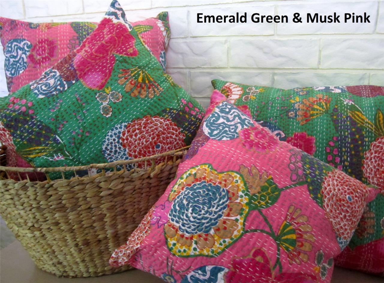 Cushion Cover India Handmade Floral Cotton Embroidered  : 699349558o from www.ebay.co.uk size 1280 x 944 jpeg 204kB