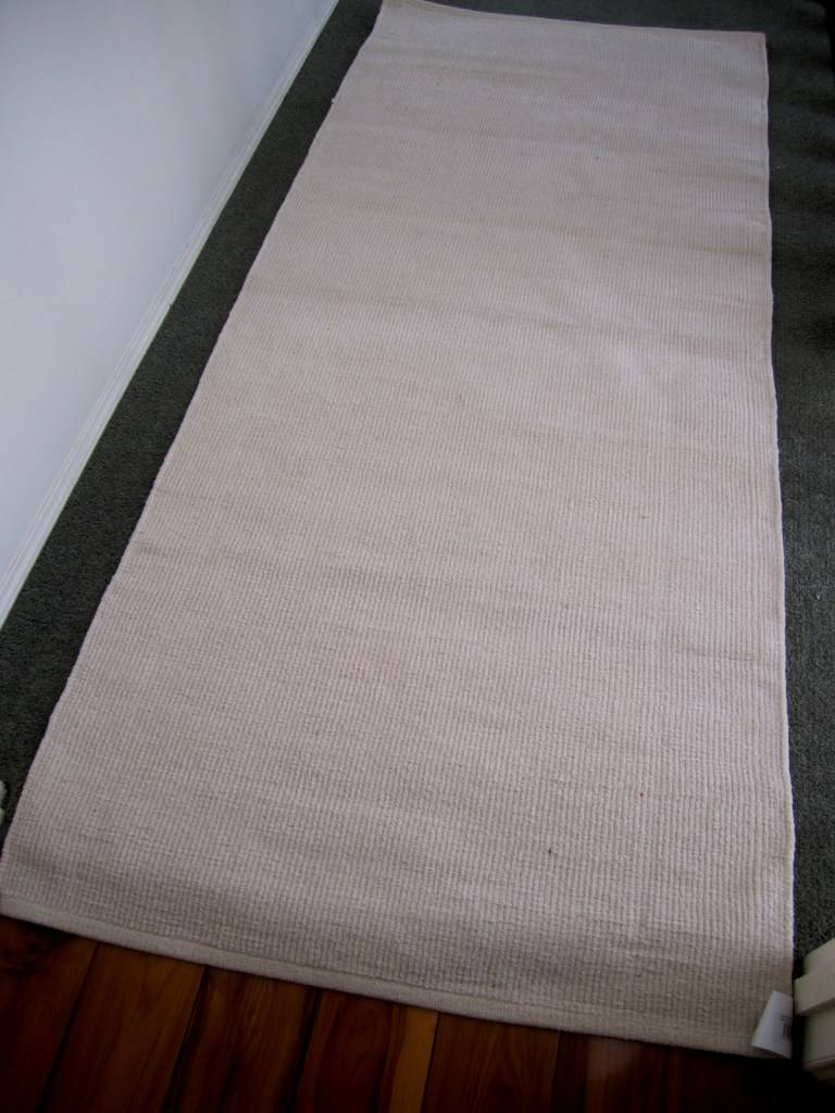 Rug Runner Modern Cotton Chenille Plain Solid Long Hall