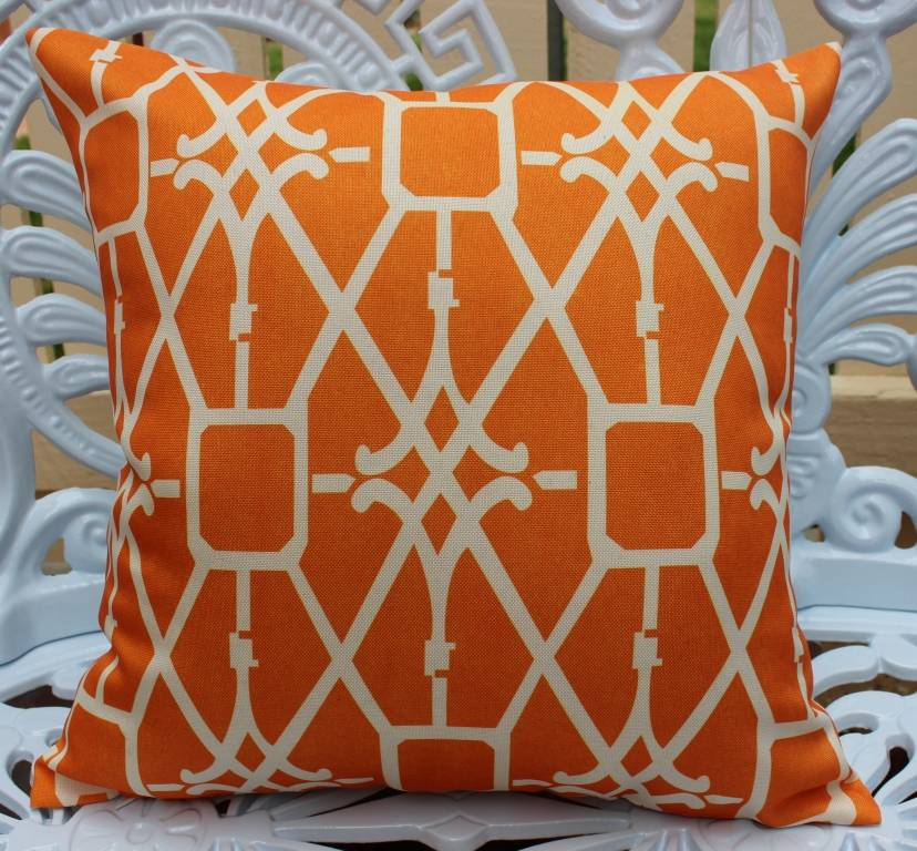 Cushion Cover: Geometric Hampton Pillow Case Throw Linen Decor Print Retro Home