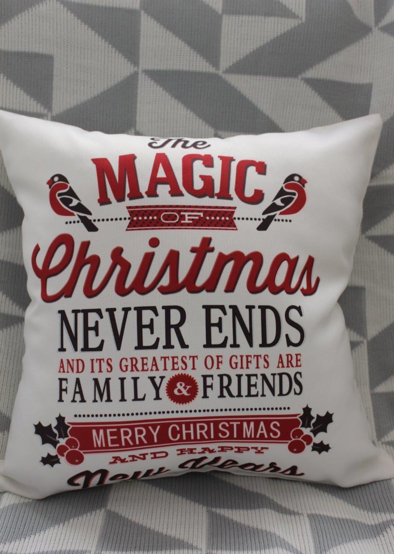 Christmas Cushion Cover Christmas Bird Print Throw Decor